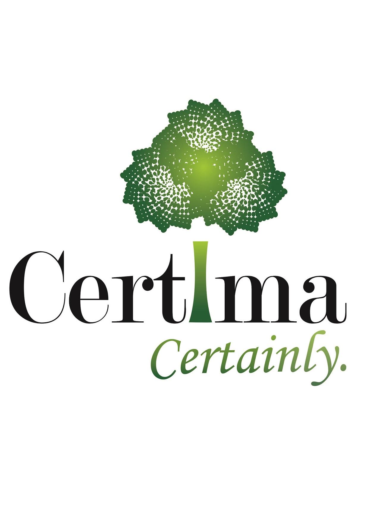 Certificate from Certima